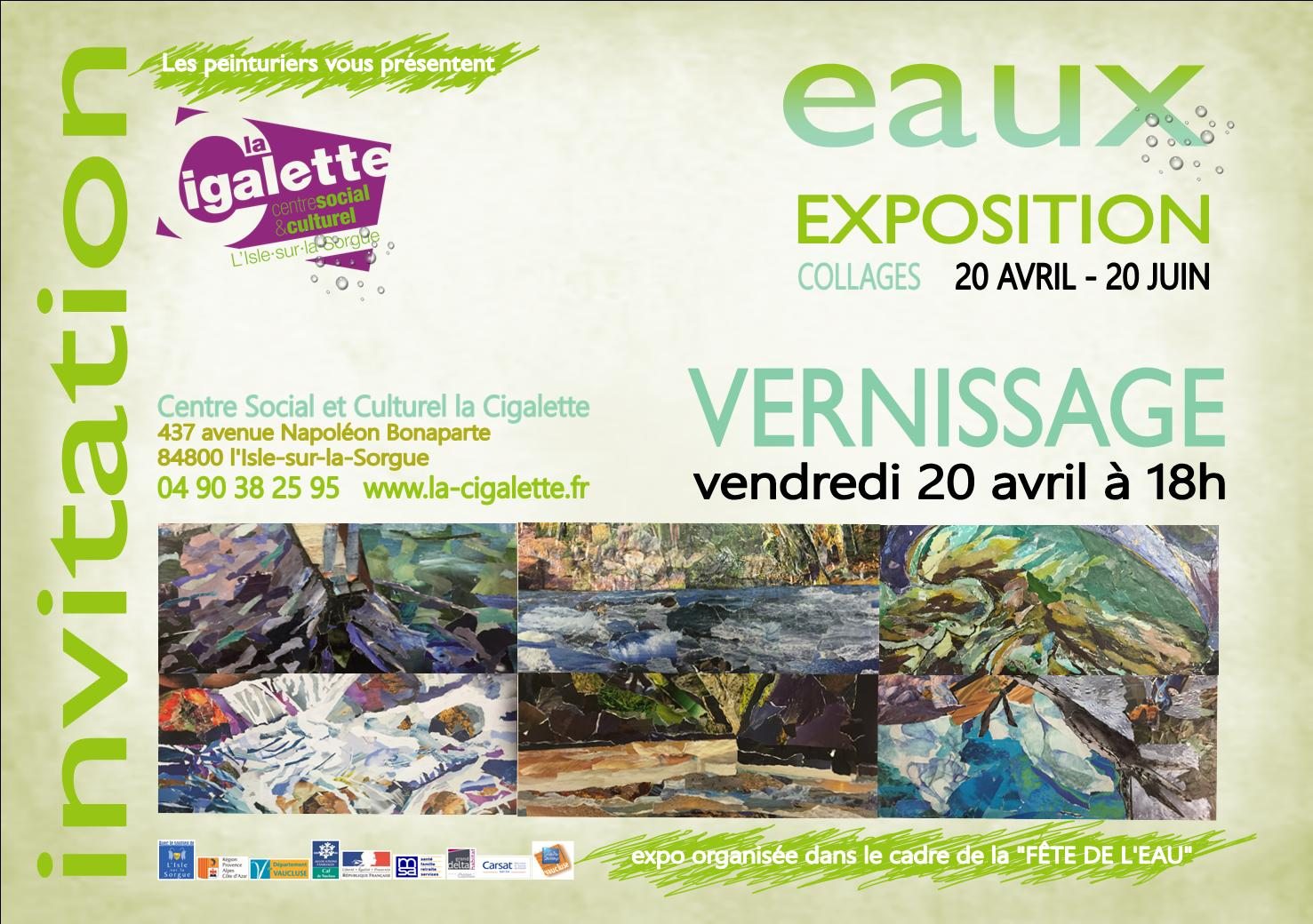 Invitation vernissage EAUX 20 avril 2018